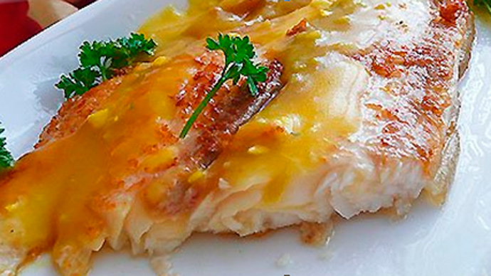 Рыба с апельсиновым соусом