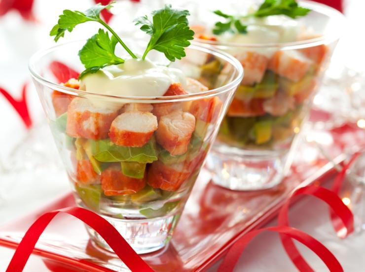 Американский крабовый салат