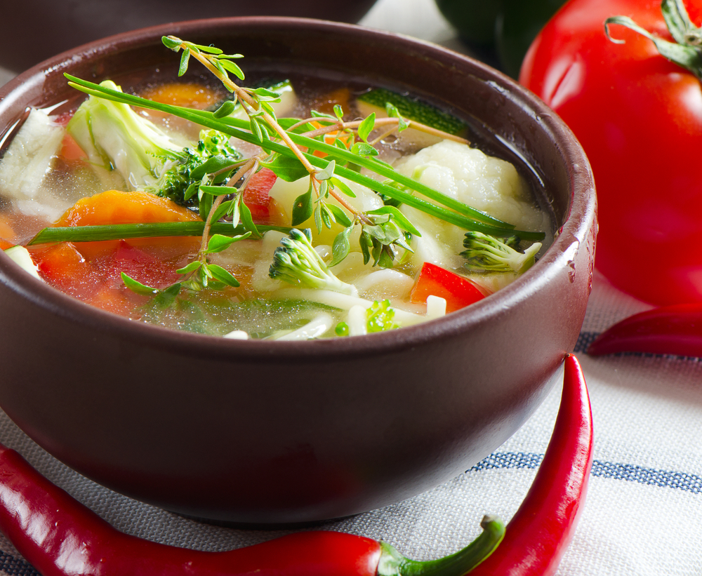 Летний суп из потрошков