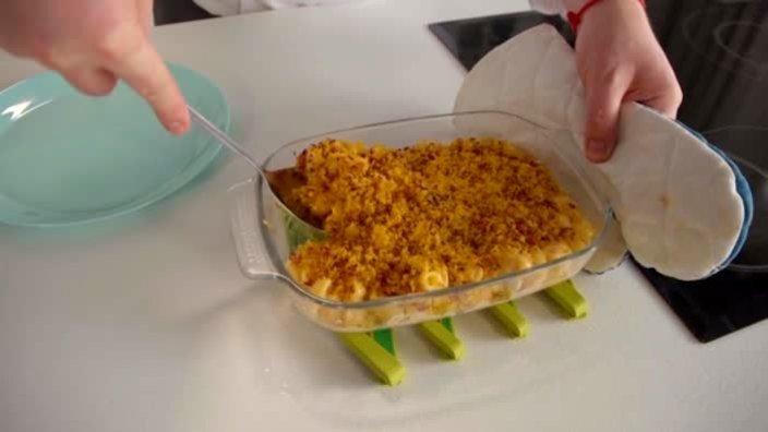 Макароны с тройным сыром