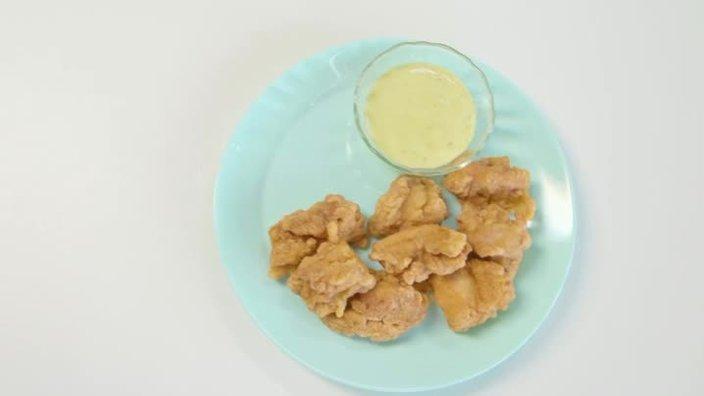 Курица по-японски в кунжутном маринаде