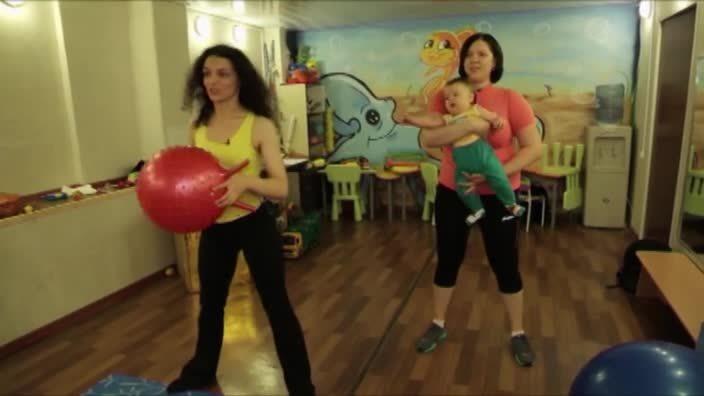 Фитнес-мама: тренировки с малышом