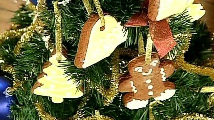 Новогоднее пряничное печенье