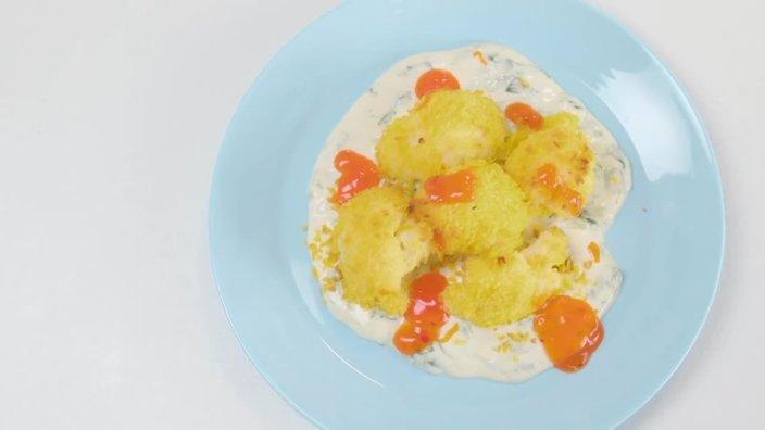 Запеченная цветная капуста с сырным соусом