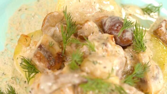 Мясные фрикадельки с картофелем